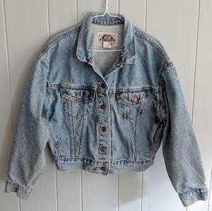 80s/90s Levi's Cropped Light Wash Mean Jacket Sm